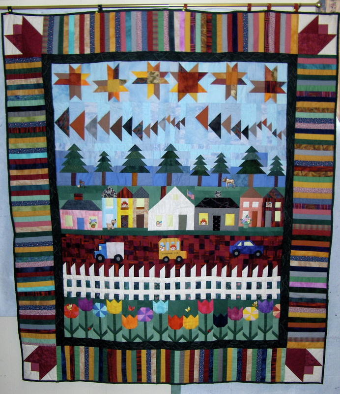 Mystery History Quilted Leaf Quilt Guild